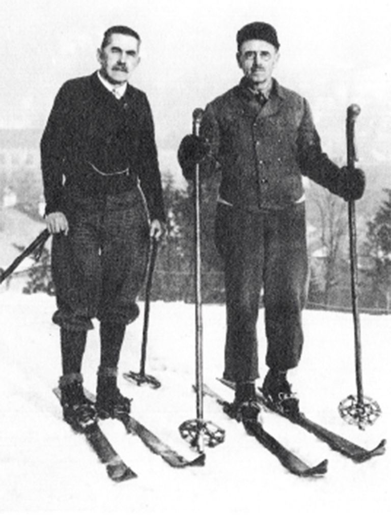 The First Ski Instructors